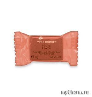 Yves Rocher / Сахар для Ванны Peach Fizzy Bath Cube