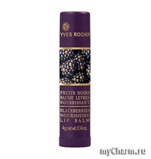 Yves Rocher / Питательный Бальзам для Губ Blackberries Nourishing Lip Balsam