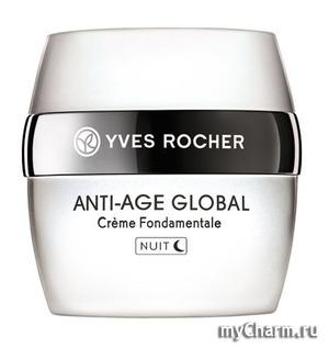 Yves Rocher / Ночной Крем для Лица Антивозрастной Anti-Age Global Complete Anti-aging Night Care