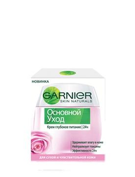 GARNIER / Skin Naturals Основной уход Крем глубокое питание 24 часа для сухой и чувствительной кожи