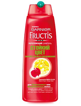 GARNIER / Fructis Стойкий Цвет Эффект свежего окрашивания Укрепляющий Шампунь