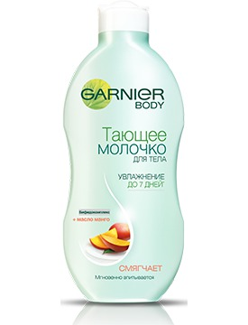 GARNIER / Body Тающее молочко для тела с Маслом Манго