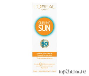 L'OREAL / SUBLIME SUN Крем для лица Солнцезащитный SPF50