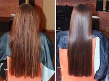 Маска для придания волосам шелковистости и блеска