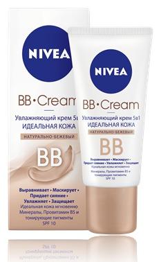 NIVEA / Увлажняющий крем 5 в 1 Идеальная кожа натурально-бежевый тон