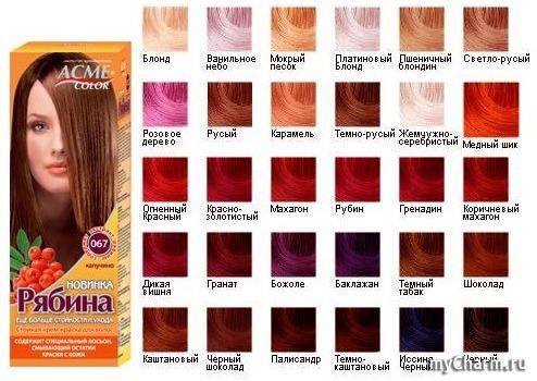 Все цвета краска для волос