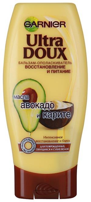 GARNIER / Бальзам-ополаскиватель для волос Ultra Doux Бальзам-ополаскиватель Восстановление и Питание с маслами авокадо и карите