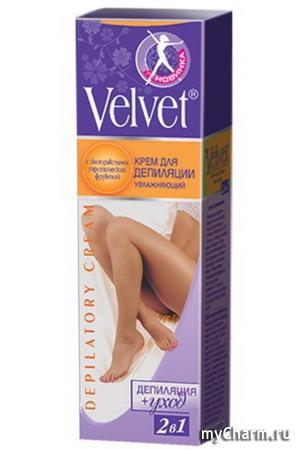Velvet / Депилятор 2 в 1 увлажняющий с экстрактами тропических фруктов