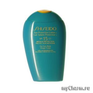Shiseido / Солнцезащитный лосьон Sun Protection Lotion N SPF 15 - For Face/Body