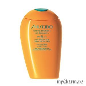 Shiseido / Эмульсия для загара Tanning Emulsion N SPF 6 - For Face/Body