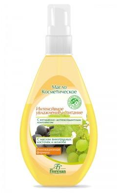 Floresan / Масло+тоник для очистки и массажа кожи Масло косметическое увлажняющее с витаминно-антиоксидантным комплексом