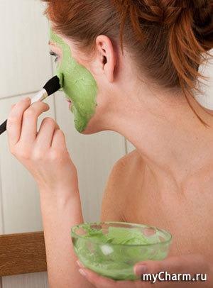 Зеленые маски для кожи лица
