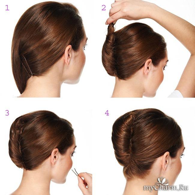Как сделать ракушку на средних волос 310