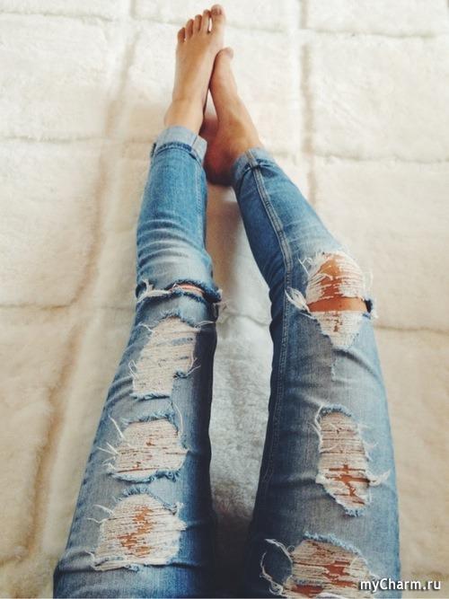 фото девушек в джинсах без лица