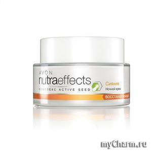 """Avon / Nutra Effect комплекс active seed Восстанавливающий ночной крем """"Сияние"""""""