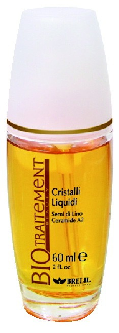 Brelil Professional / Флюид для волос BIO TRAITEMENT Cristalli Liquidi Semi di Lino Ceramide A2
