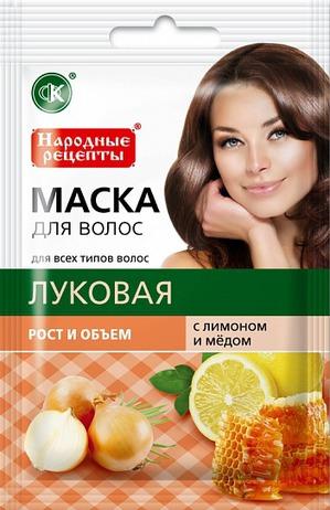 """""""Fitокосметик"""" / Натуральная маска для волос """"Луковая с лимоном и медом"""" рост и объем."""