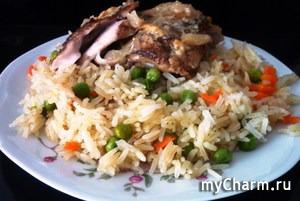 Курица по-купечески в горшочке с рисом