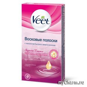 Veet / Supreme Essence Восковые полоски для чувствительной кожи для зоны бикини и подмышек бархатная роза