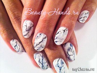 Дизайн гранит на ногтях