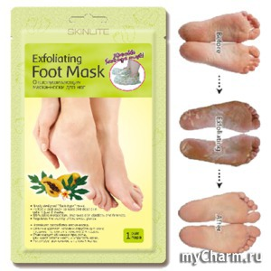 Skinlite / Отшелушивающая маска-носки для ног