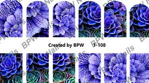 """""""Черная пантера"""" / Слайдер-дизайн для ногтей Slaider BPW Style (в ассортименте)"""