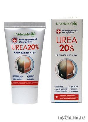 L'Adeleide / Urea 20% Регенерирующий крем для ног и рук