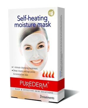Purederm / Самонагревающаяся увлажняющая маска для глубокого очищения пор