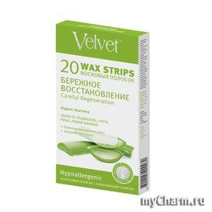 Velvet / Careful Regeneration восковые полоски для чувствительной кожи