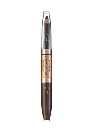 Revlon / Карандаш для бровей Colorstay Brow Fantasy Pencil&Gel Dark brown