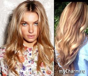 Красивый оттенок волос без химии