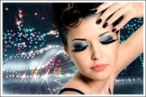 Новогодний макияж с акцентом на глаза
