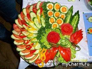 Украшение овощной тарелки