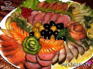 Украшение рыбной тарелки