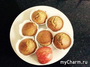 Маковые маффины с добавлением яблока