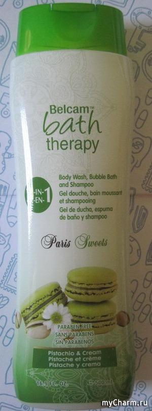 Belcam / Гель для душа bath therapy 3-in-1 Paris Sweets Pistachio & Cream