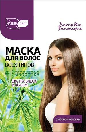 Naturalist / Маска для всех типов волос «Экстра блеск и объем» с маслом конопли + Восстанавливающая сыворотка