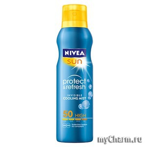 NIVEA / Солнцезащитный спрей Sun Protect&Refresh Invisible Cooling Mist
