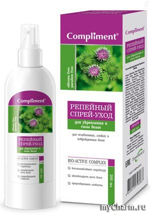 Compliment / Спрей-уход репейный для волос для укрепления и силы волос