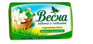 """""""Весна"""" / HERBAL Туалетное мыло """"Жасмин и зеленый чай"""""""