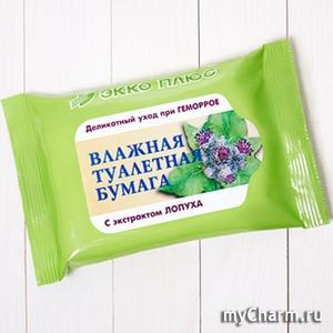 """""""Экко плюс"""" / Влажная туалетная бумага (Лопух)"""