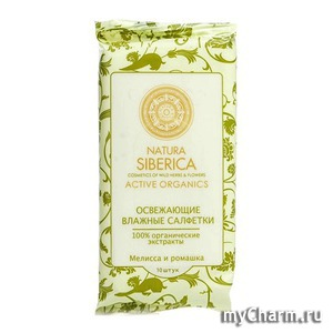 Natura Siberica / Влажные салфетки Natural Siberica cosmetics of wild herbs&flowers Active Organics