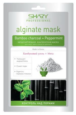 SHARY / Маска для лица Моделирующая альгинатная маска Контроль над порами Бамбуковый уголь + Мята