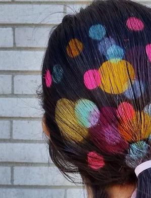 Трафаретное окрашивание волос – увлечение инстаблогеров