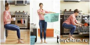 Фитнес за уборкой. 10 простых упражнений для дома