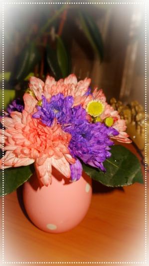Цветочный букет в вазе на День ангела