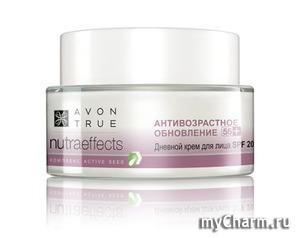 Комплексный уход для зрелой кожи: Avon True Nutra Effects «Антивозрастное обновление 55+»