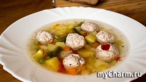 Овощной супчик с фрикадельками, просто объедение! Быстро и просто!) Рецепт!