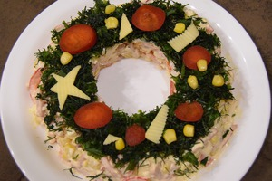 Салат Венок Новогодний