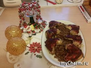 Курочка под клюквой к праздничному столу